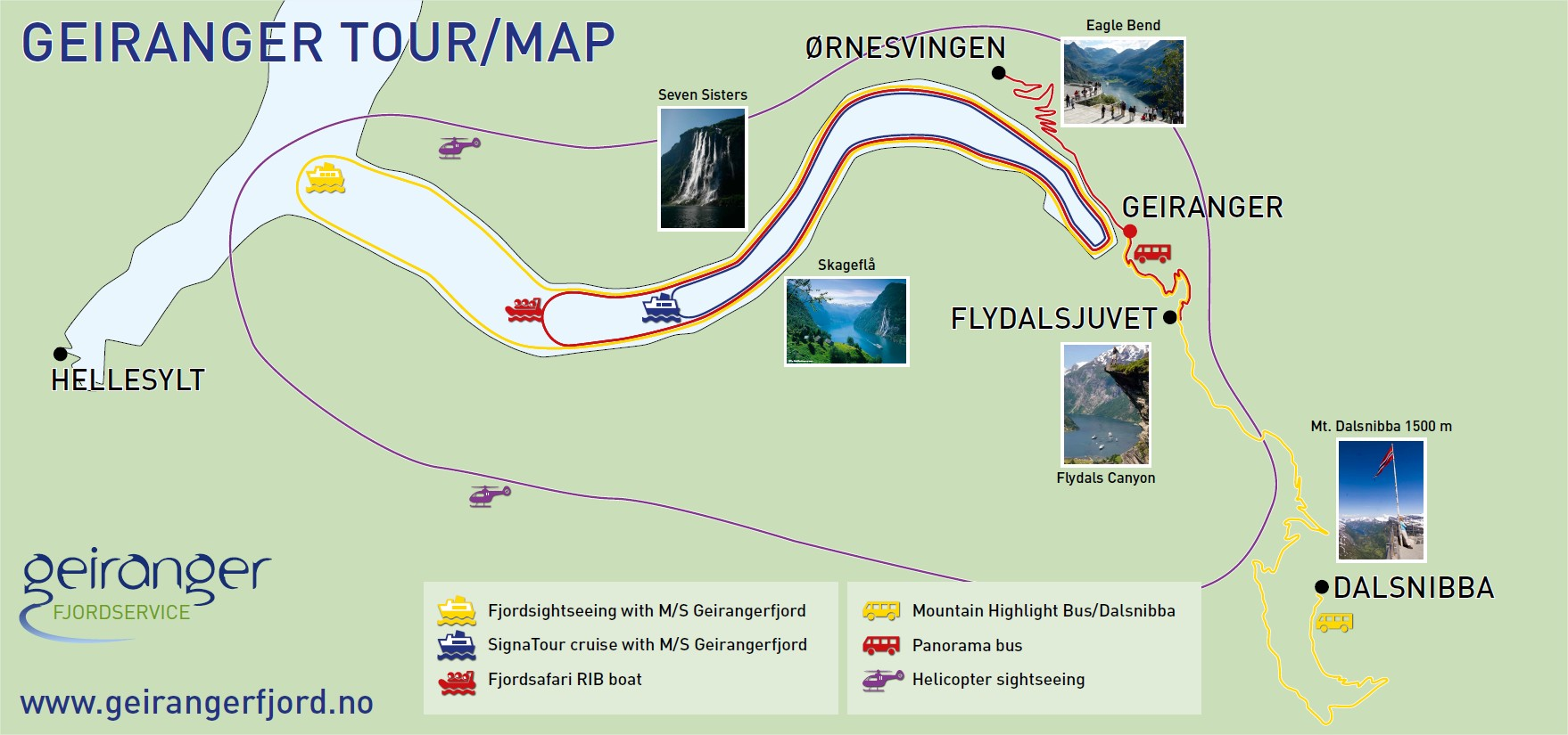 Things To Do In Geiranger Norway Maps - Norway map highlights